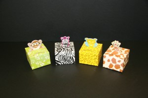 Jungle Creature Cartons Sweet Boxes