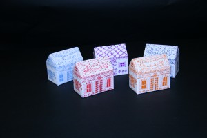 GWD Rococo sweet boxes building shaped