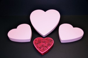 Heart shaped wedding favour boxes