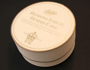 Round packaging such as this can be simply styled with a sport motif
