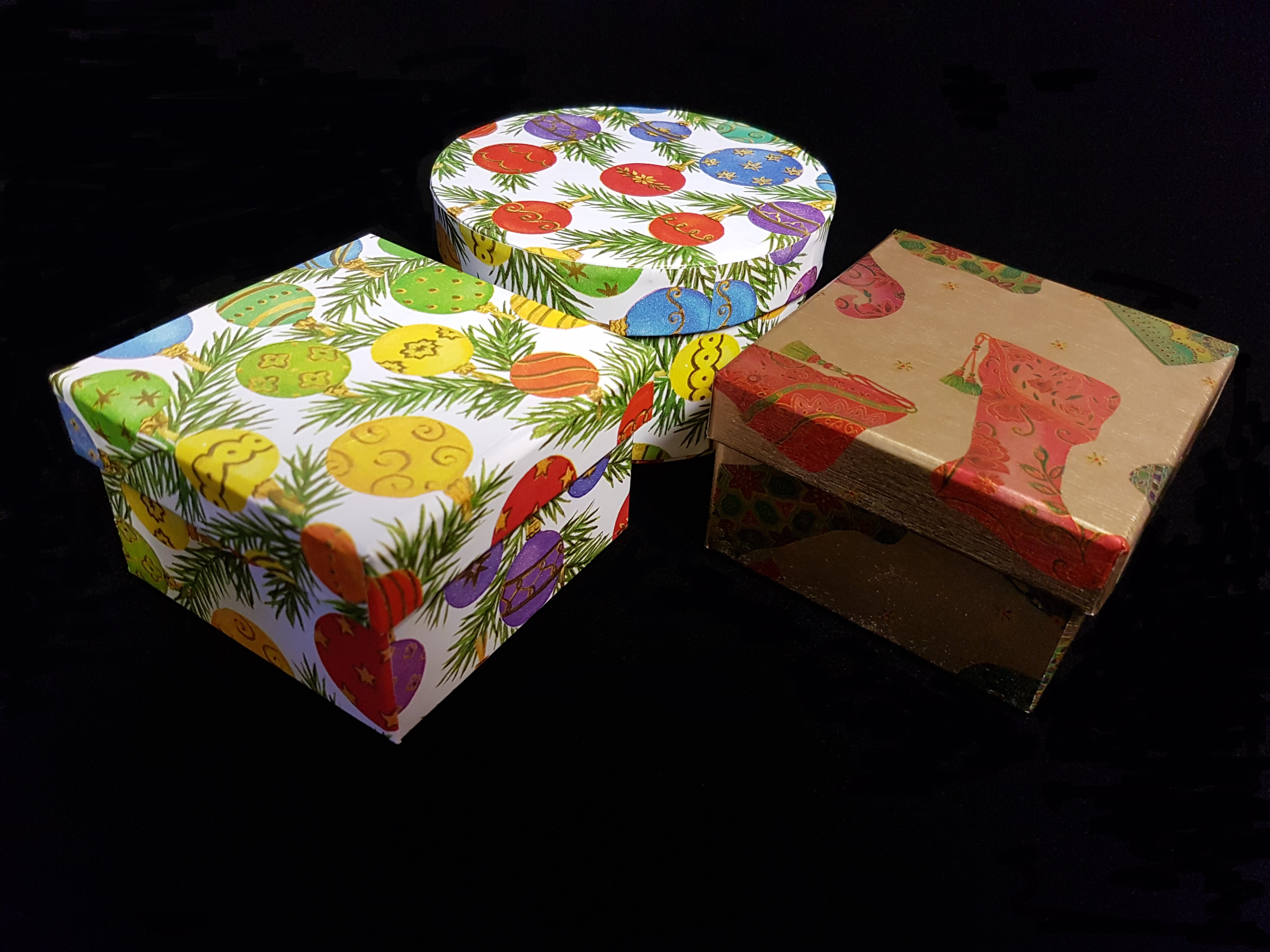 Christmas packaging, Christmas hampers