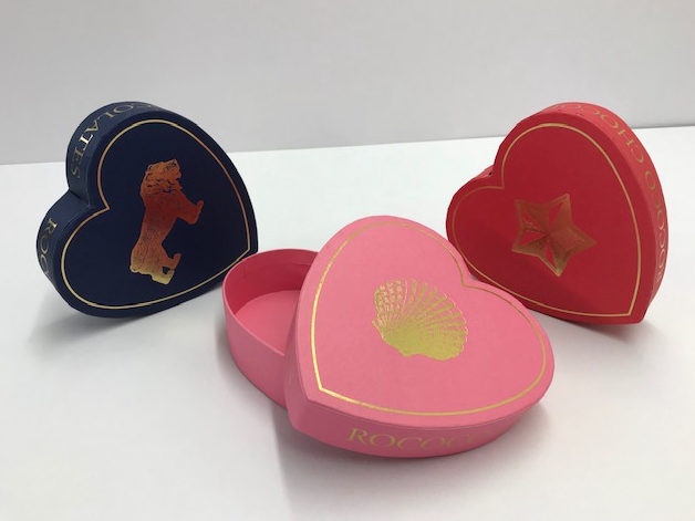 Heart shaped boxes for Valentine's day