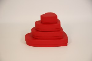 Stack of heart shaped boxes