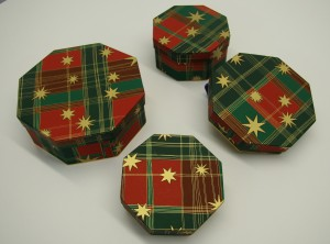 Tartan Christmas boxes