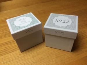 Candle boxes for No 22, own brand and personalised (a service GWD can offer)