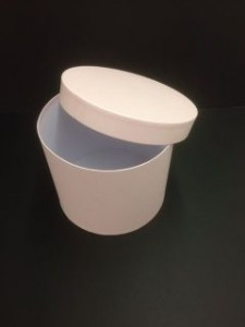 Floral packaging round 'Hat' box