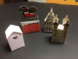 Famous Buildings, Outhouse and Santa's Boots in the chimney boxes (folding boxes)