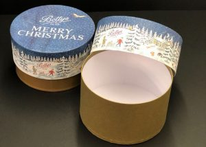 Bettys Christmas hat box packaging from GWD