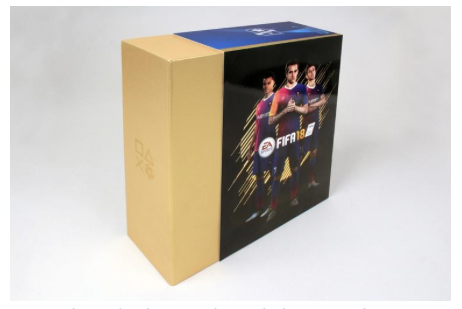 The product box, complete with glossy outer sleeve