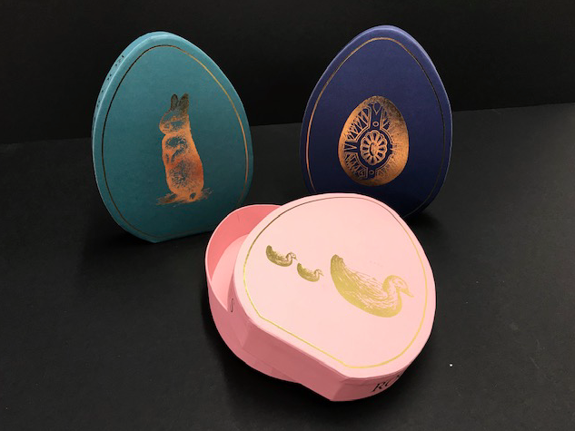 Packaging for rococo chocolates and other chocolatiers